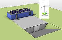 Автономная гибридная электростанция на 3,5 кВт/час для аэропонного комплекса