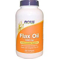 Льняное масло, незаменимые омега-3, 1000 мг, 250 желатиновых капсул. Now Foods
