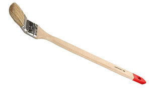 """Кисть радиаторная STAYER """"EURO"""", светлая натуральная щетина, деревянная ручка, 75мм"""