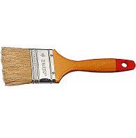"""Кисть плоская  ЗУБР """"УНИВЕРСАЛ-МАСТЕР"""", натуральная щетина, деревянная ручка, 75мм"""