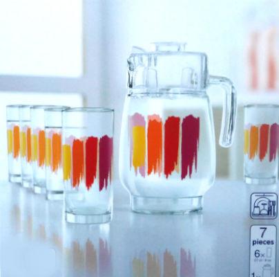 Графин со стаканами Luminarc Paint Brush (7 предметов)