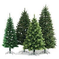 Искусственные елки, гирлянды, декорации