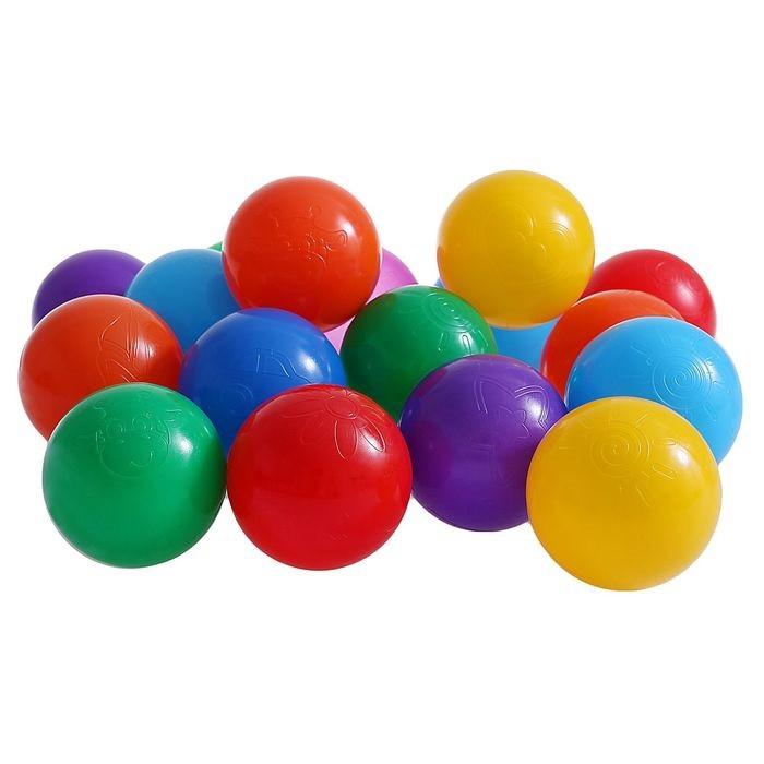 Шарики для сухого бассейна с рисунком, диаметр шара 7,5 см, набор 60 шт