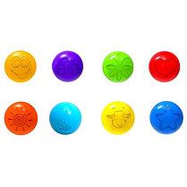 Шарики для сухого бассейна с рисунком, диаметр шара 7,5 см, набор 150 шт, фото 2