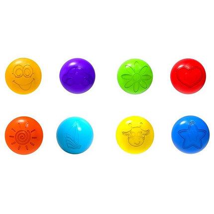 Шарики для сухого бассейна с рисунком, диаметр шара 7,5 см, набор 60 шт, фото 2