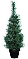 Елка 90 см зеленая в черном горшке (KA681103)