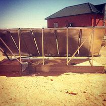 Солнечная водонагревательная система 5 плоских коллекторов, 500л бивалентный бак 10