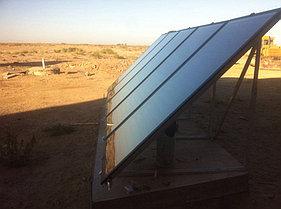 Солнечная водонагревательная система 5 плоских коллекторов, 500л бивалентный бак 12