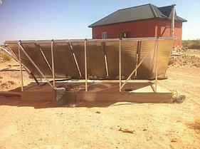 Солнечная водонагревательная система 5 плоских коллекторов, 500л бивалентный бак 16