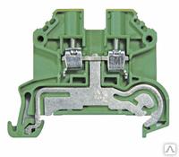 1124450000 Клемма SAKPE 4 с заземлением 2-провод. 4мм2, зеленая