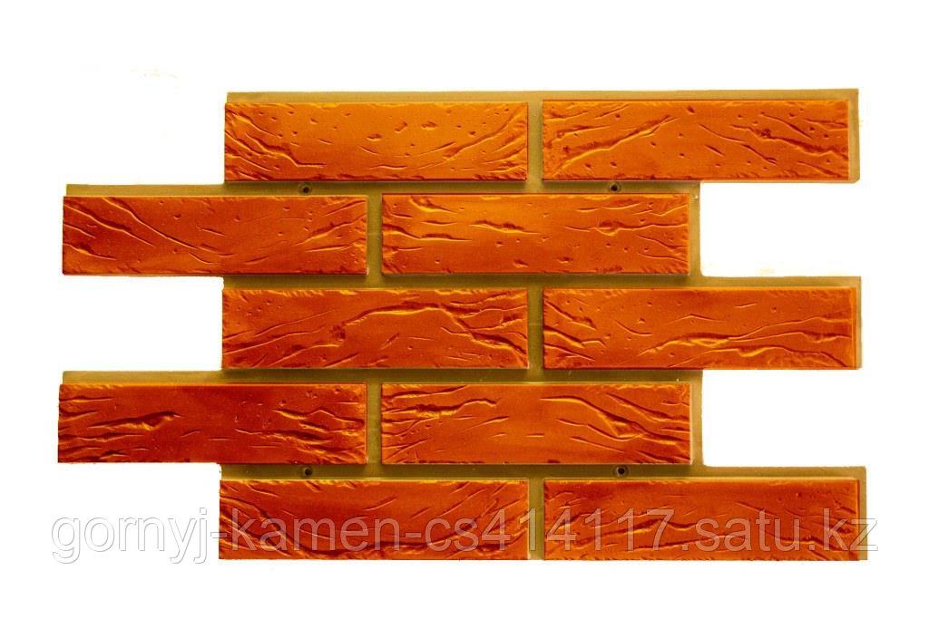 Фасадная облицовочная бетонная панель - Шамотный кирпич