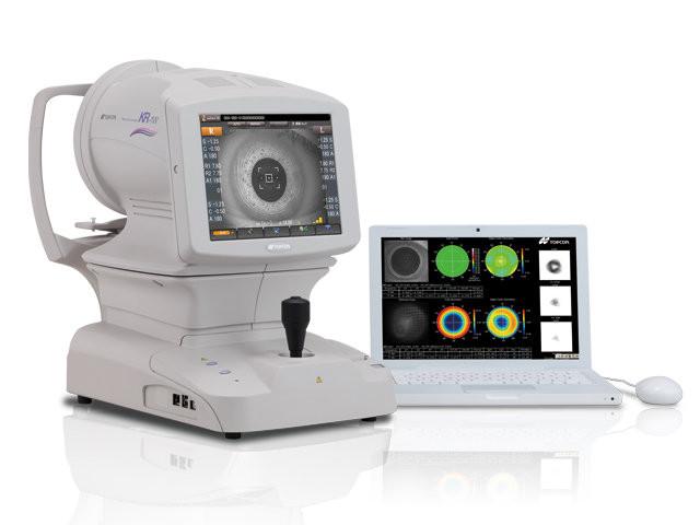 Автоматический кераторефрактометр с анализатором волнового фронта KR-1W, Topcon