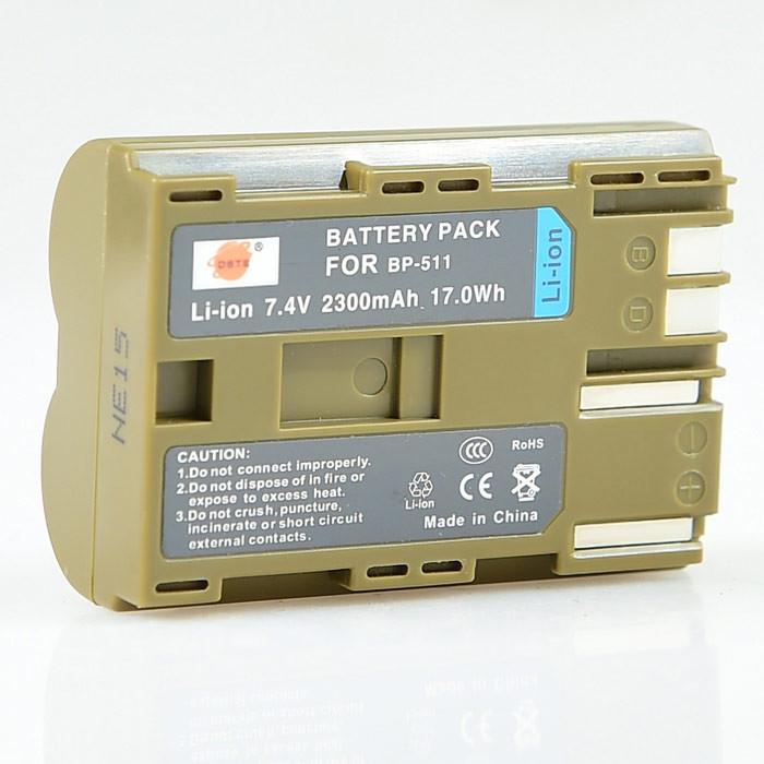 Аккумуляторы BP-511A Li-ion на Canon EOS 300D/30D/40D/5D/D30 /D60