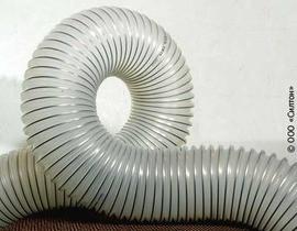 Шланг, рукав, воздуховод ПВХ Pro Tex PVC прозрачный для абразива, транспортировка бумажного волокна, типа POLI