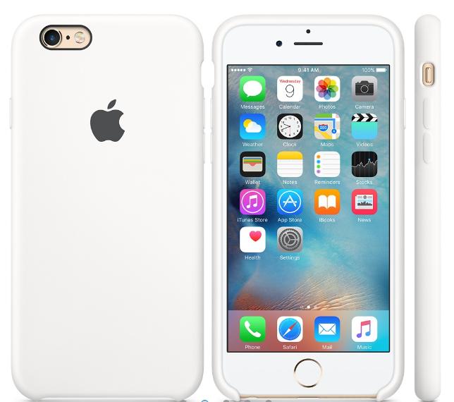 Cиликоновый чехол для iPhone 6s (белый)