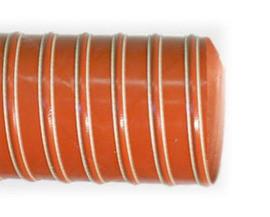 Гибкий воздуховод U8 до 300 гр в металлургии и стекольной производстве ф-150