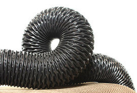 Гофрированный ПВХ рукав для пыли, мелкого абразива, газов VINI