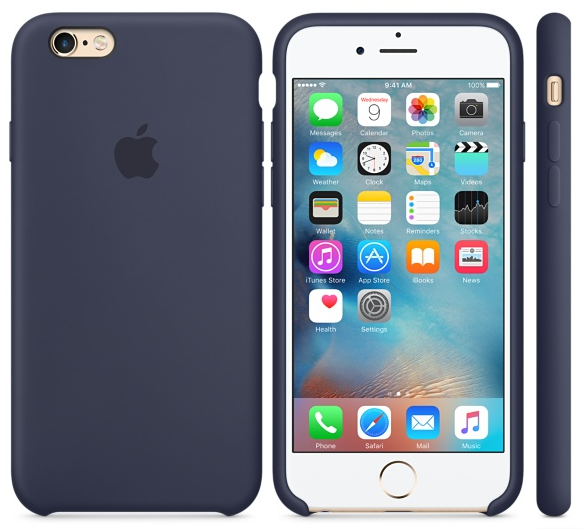 Силиконовый чехол для iPhone 6s (темно-синий)