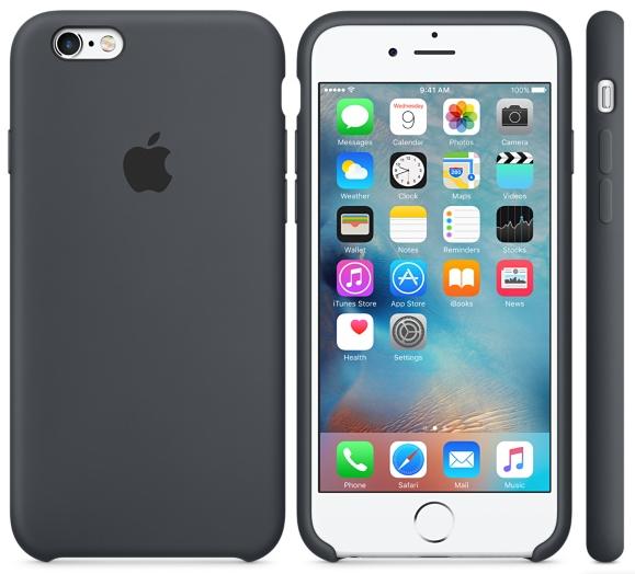 Cиликоновый чехол для iPhone 6s (серый)