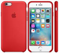 Cиликоновый чехол для iPhone 6s (красный), фото 1