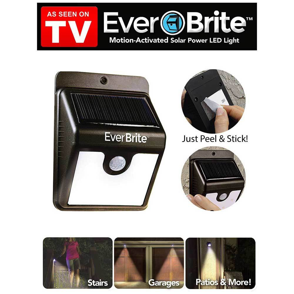Светильник уличный на солнечной батарее с датчиком движения EverBrite