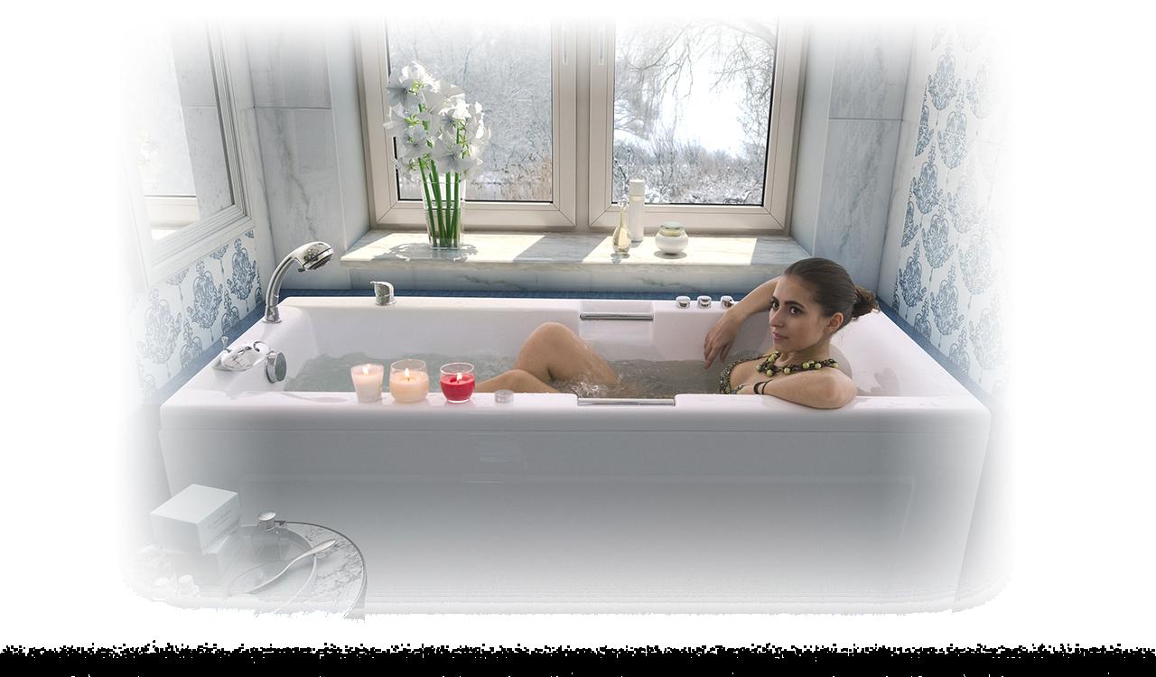 Акриловая ванна АЛЕКСАНДРИЯ-160*75*63