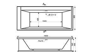 Акриловая ванна ГРАНД 180*80*60, фото 3