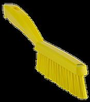 Узкая ручная щетка с короткой ручкой жёская