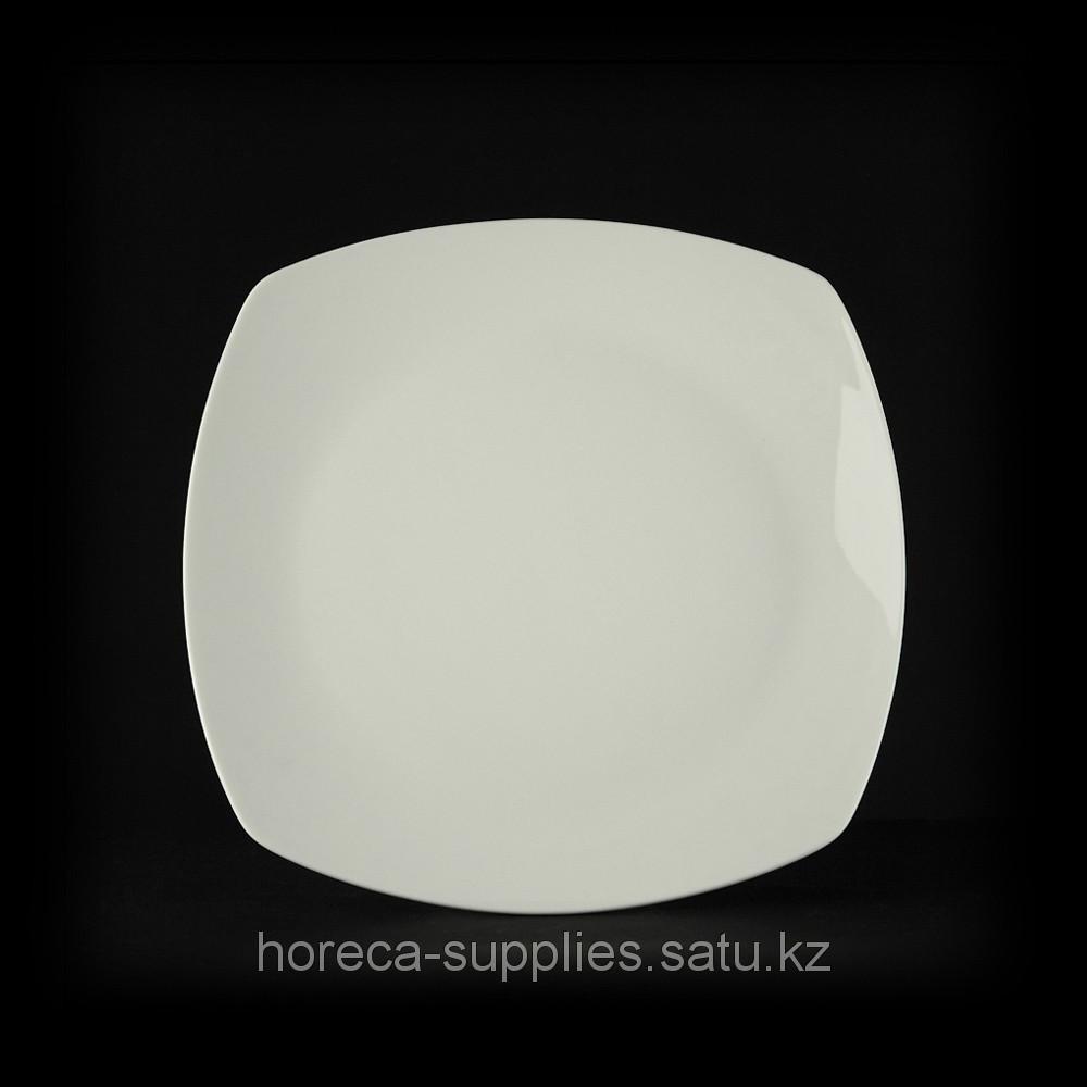 Тарелка квадратная «Chan Wave» 255 мм [ivory LQ-QD0128D]