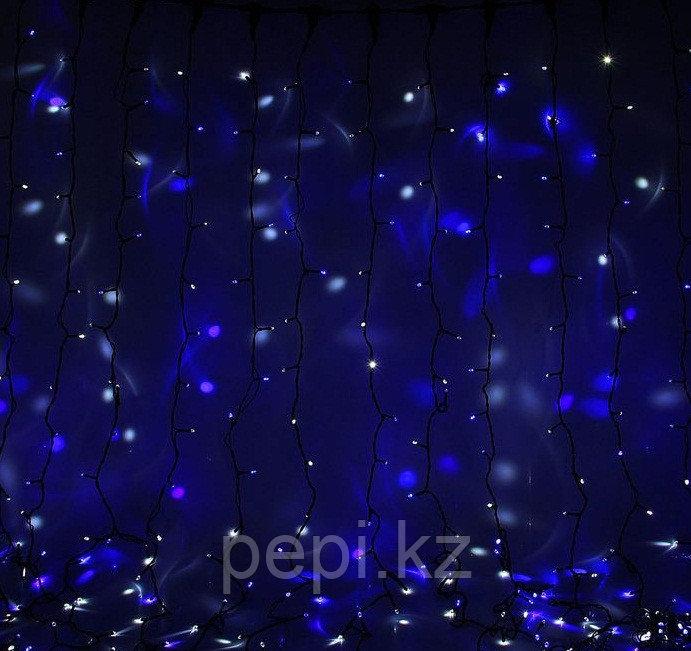 "Электрогирлянда ""Занавес"", 1500 ламп,LED, 5,0х3,0м, синий, пластик"