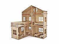 Кукольный домик для барби, фанера, 90см