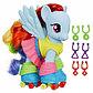 Пони-модница My Little Pony - Рейнбоу Дэш, 15 см, фото 2