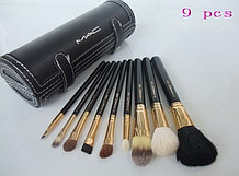 Набор кистей для макияжа MAC в тубусе, 9 шт