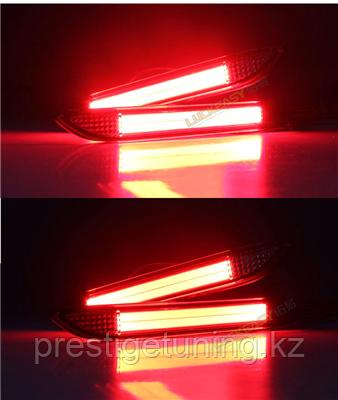 Задние LED вставки в бампер на Camry V50 2011-14 Красные Type 2