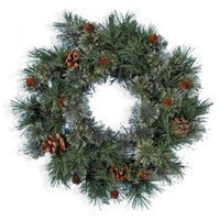 Декор Венок еловый Аризона 50см с шишками