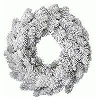Декор Венок еловый Рождественский со снегом d=50см