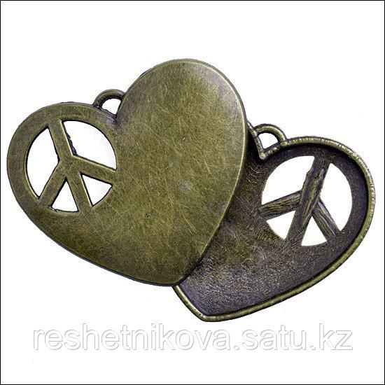 Подвеска Сердце с символом