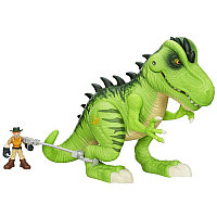 """Игровой набор """"Тираннозавр Рекс и охотник"""" Playskool Heroes (свет, звук) , фото 1"""