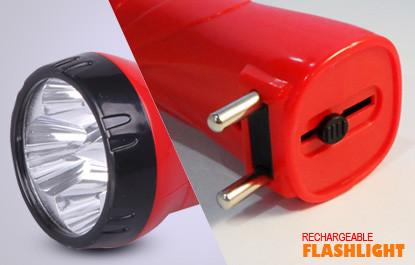 Фонарик аккумуляторный LED MR-3868 Красный