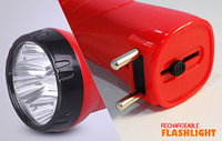 Фонарик аккумуляторный LED MR-3868 Красный, фото 1