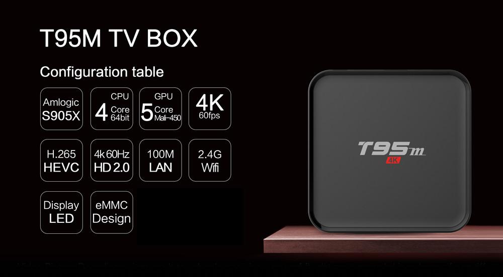 Медиаплеер Sunvell T95M 4K HD ТВ бокс, 64Bit, Android 5.1   -  2GB + 8GB