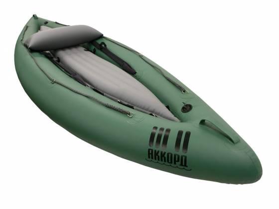 Одноместный надувной каяк Аккорд-1 для сплава или рыбалки