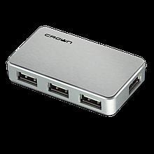 USB-хаб Crown CMH-B19 BLACK/SILVER