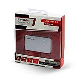 USB-хаб Crown CMH-B19 BLACK/SILVER, фото 4