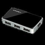 USB-хаб Crown CMH-B19 BLACK/SILVER, фото 2