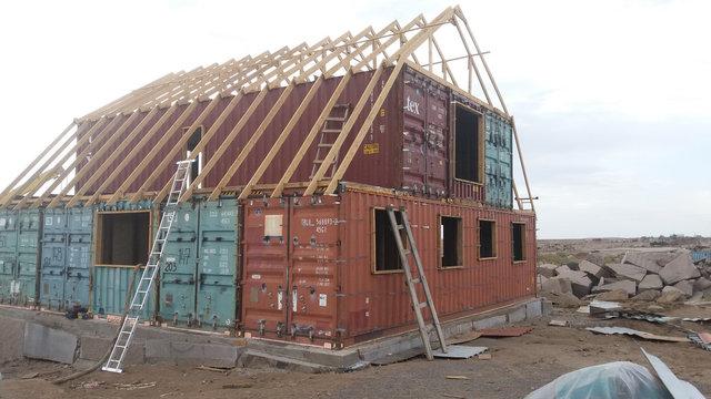 Жилой дом из контейнеров до нанесения .