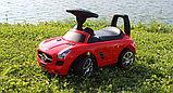 Толокар машинка Mercedes-Benz SLS AMG (Красный), фото 2