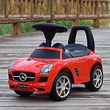 Толокар машинка Mercedes-Benz SLS AMG (Красный), фото 3