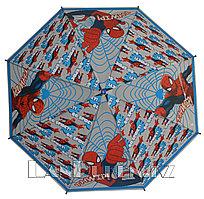 """Зонт-трость детский красный с голубым """"Человек-паук"""" (класс 1)"""