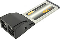 "Контроллер ""Express Card/34 mm  USB 2.0 High Speed  4 Port"""